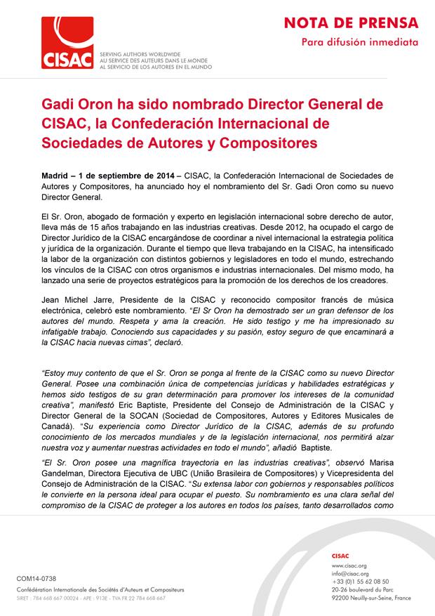 20140901_Gadi-Oron,-nombrado-Director-General-de-CISAC-1