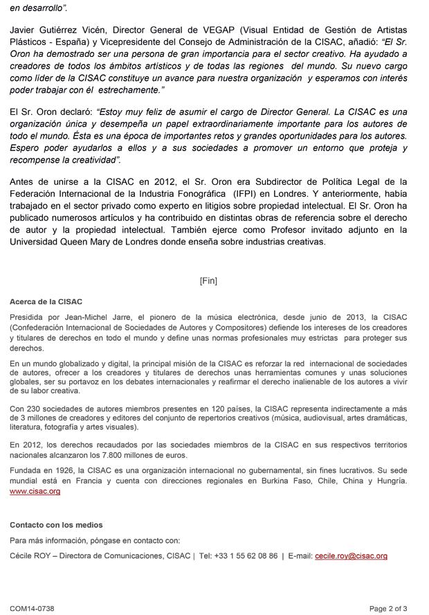 20140901_Gadi-Oron,-nombrado-Director-General-de-CISAC-2