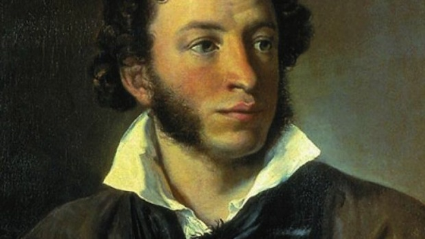 Portrait of Russian poet Aleksandr Pushkin by Vasily Tropinin