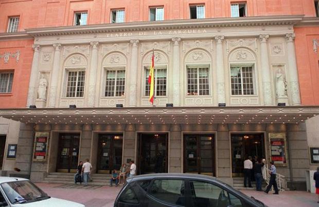Fachada del Teatro de la Zarzuela