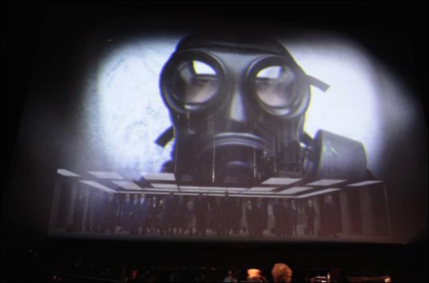 Un Ballo in Maschera, a new production of La Fura dels Baus at La Monnaie