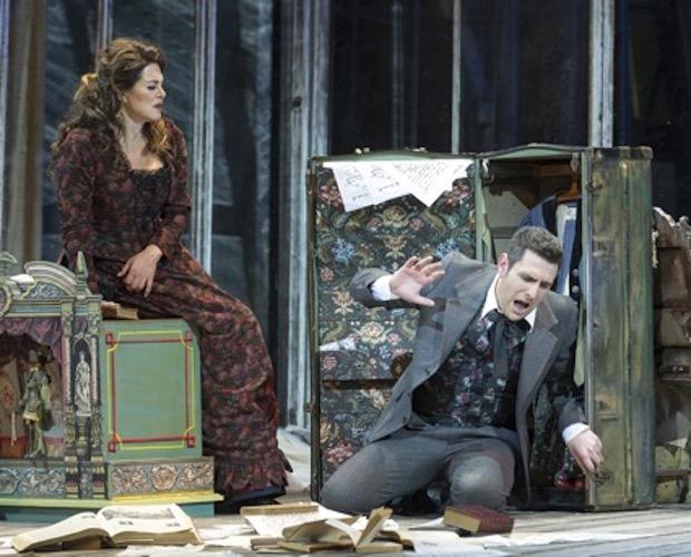 Escena de Werther en el Teatro Colón de Buenos Aires