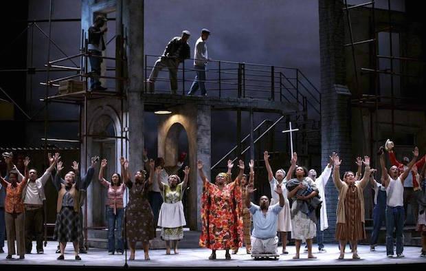 Escena de Porgy and Bess de George Gershwin en el Teatro Real