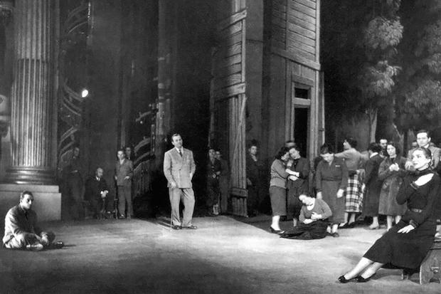 "Acto III de ""Manon Lescaut"" - Festival de Spoleto  Boceto de Lila De Nobili, 1973"