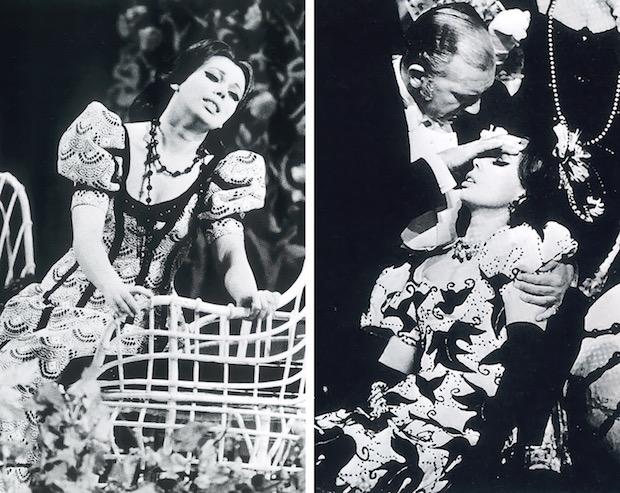 Fotos 37 & 38- Mirella Freni en el Acto II - 1. Piero Cappuccilli y Mirella Freni en el Acto II - 2