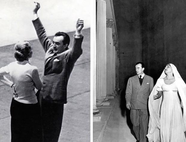 """Maria Meneghini-Callas y Luchino Visconti durante los ensayos de """"La Vestale""""  fotos: Erio Piccagliani – Teatro alla Scala, diciembre de 1954"""