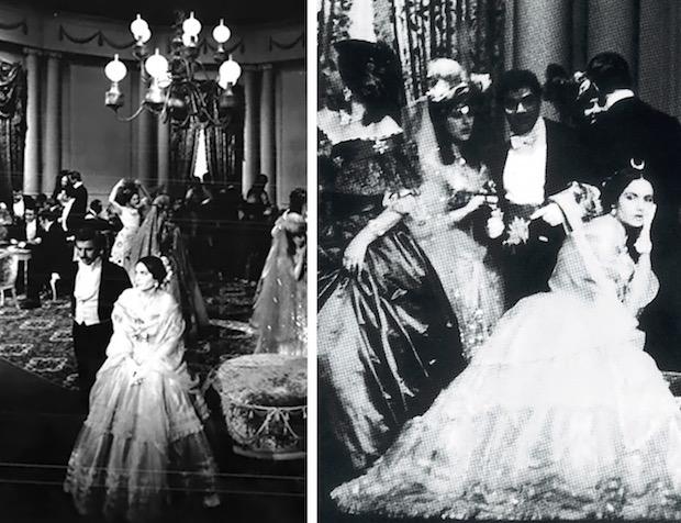 luchino visconti Franca Fabbri en los Actos I y II - 2  fotos: VI Festival de Spoleto, junio de 1963