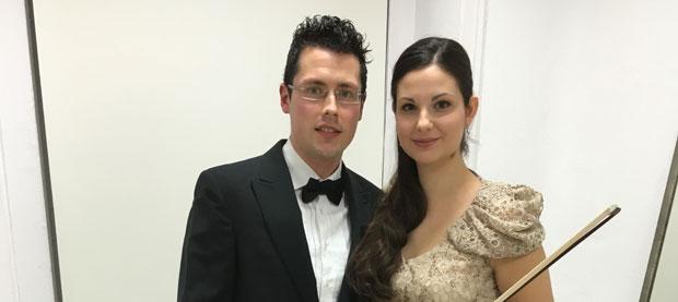 Toccata en A: recital de piano y violín a cargo del dúo Frías y Alonso