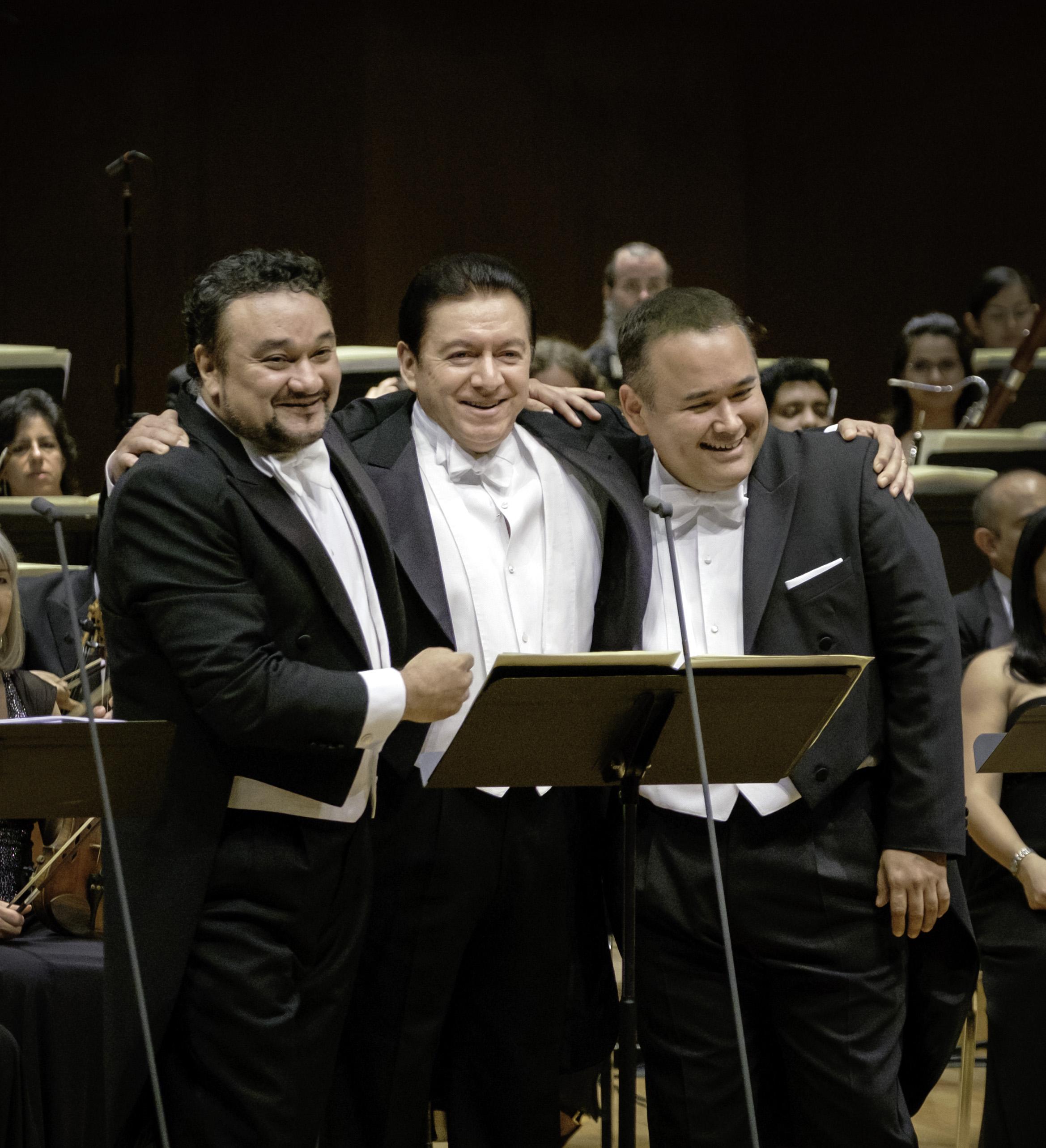 Gala de Araiza, Vargas y Camarena: tres generaciones de tenores mexicanos. Foto: Ana Lourdes Herrera / Pro Ópera AC