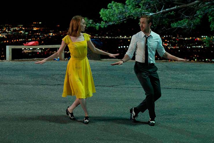 Emma Stone y Ryan Gosling en su dúo a lo Fred y Ginger. Foto: UNIVERSAL PICTURES SPAIN