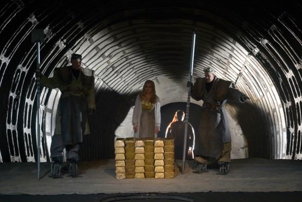 Escena de la producción de Götz Friedrich de Das Rheingold en Berlín. Foto: Betina Stoss