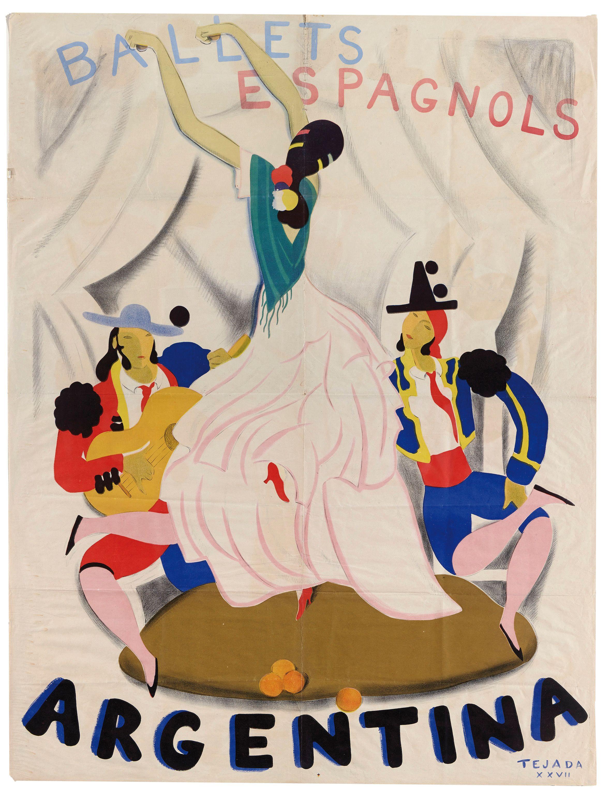 Carlos Sáenz de Tejada, Ballets Espagnols de La Argentina, 1927. Impresión mecánica sobre papel, 128 x 98 cm. Museo Nacional Centro de Arte Reina Sofía, Madrid.