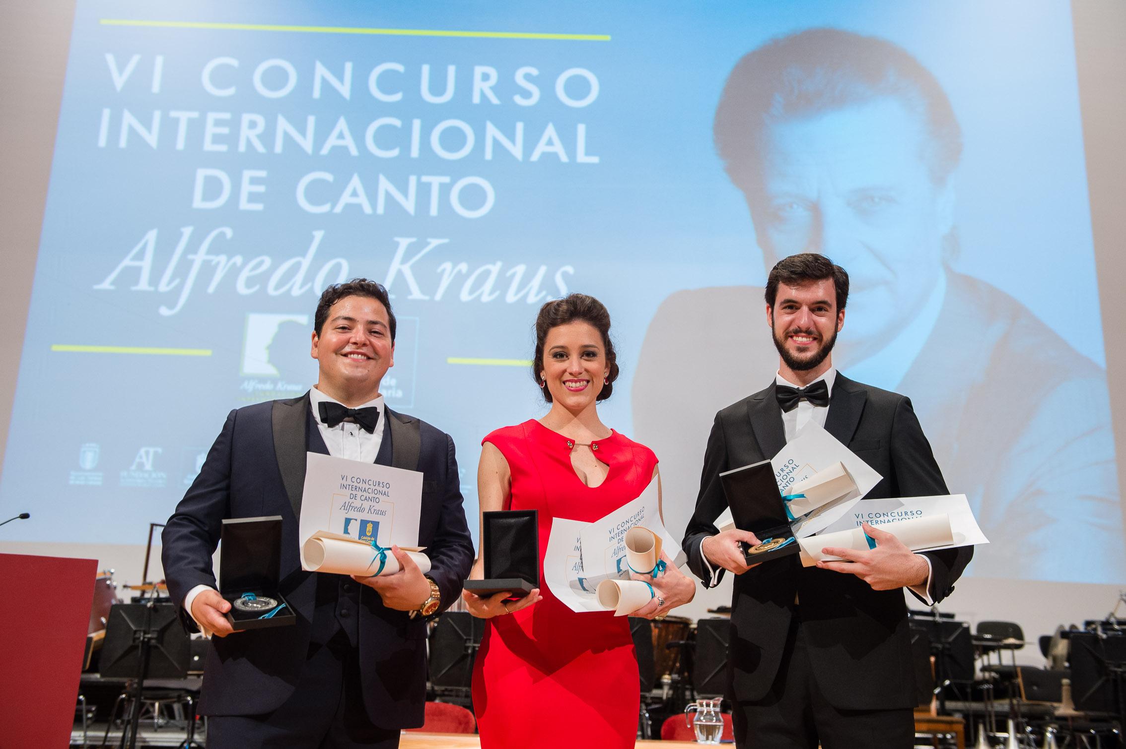 Premiados del VI Concurso Internacional De Canto Alfredo Kraus. ©Nacho González/CICAK