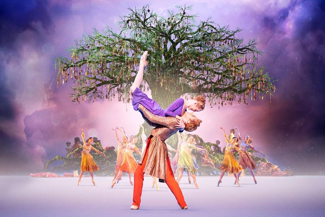 Sarah Lamb y Steven McRae en el segundo acto de Cuento de invierno del Royal Ballet