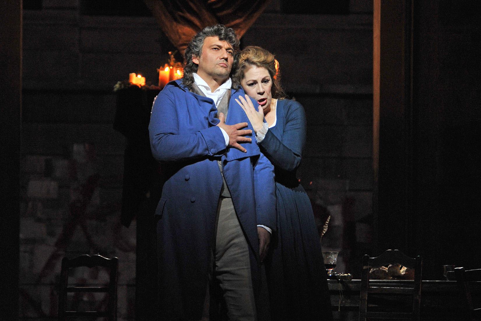Jonas Kaufmann (Andrea Chénier) y Sondra Radvanovsky (Maddalena). Liceu 2018 Foto ® A Bofill