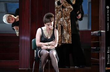 """Imagen de la obra """"Poppea e Nerone"""" en el Teatro Real"""
