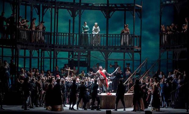 Escena de Otello en el Teatro Argentino de La Plata