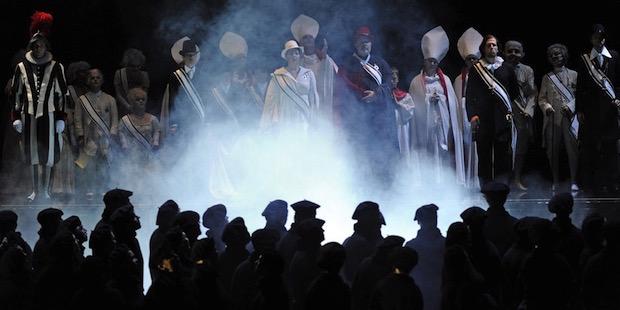Don Carlo en Dresde con René Pape como Felipe II