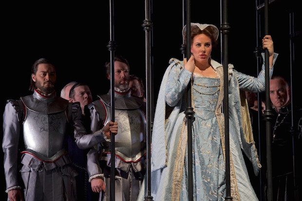 Joyce El-Khoury makes her Seattle Opera debut as the title role in Mary Stuart. Jacob Lucas photo