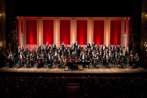 Antonio Pappano y la Orquesta de la Accademia Santa Cecilia con Beatrice Rana en Buenos Aires. Foto: Liliana Morsia