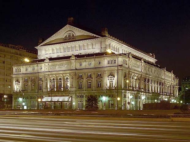 La noche cuando sufrió el Teatro Colón