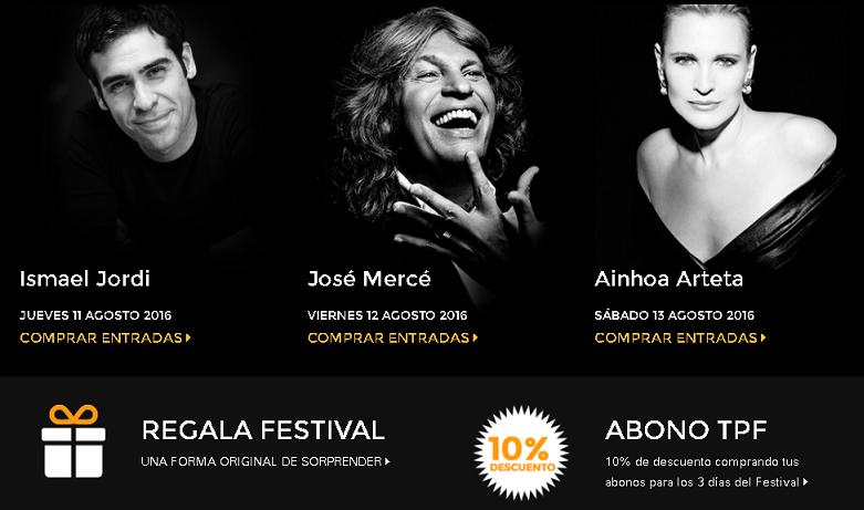 El III Tío Pepe Festival reunirá a Ainhoa Arteta, Ismael Jordi y José Mercé