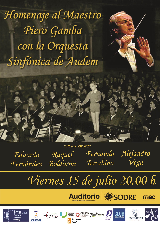 Homenaje en Montevideo a los 70 años de carrera del maestro Piero Gamba