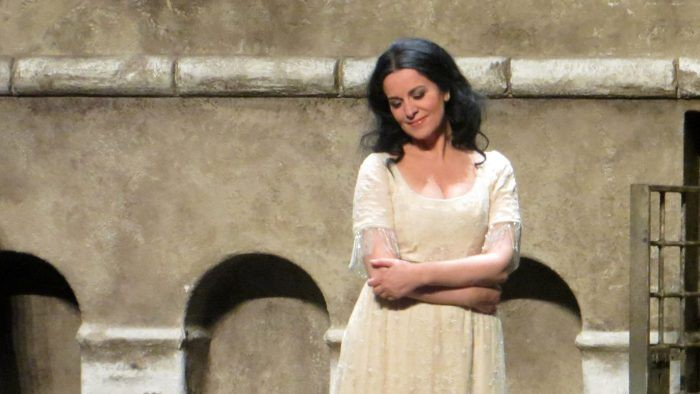 Staatsoper in Schillertheater and painted Tosca with Angela Gheorghiu