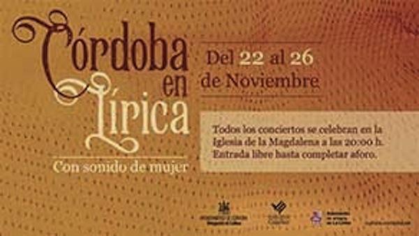 Córdoba en Lírica: con Sonido de Mujer
