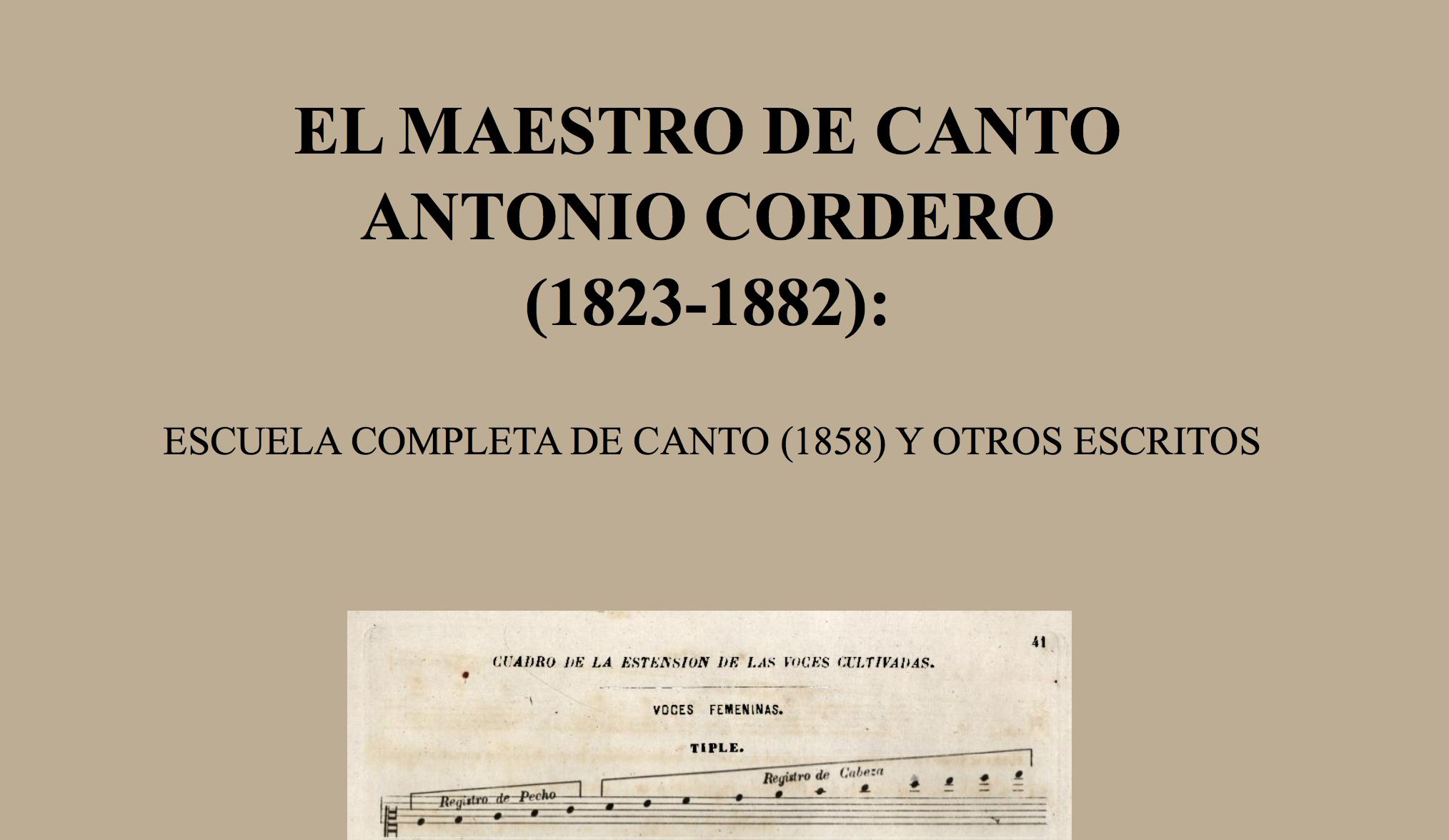 María del Coral Morales-Villar: El maestro de canto Antonio Cordero (1823-1882)