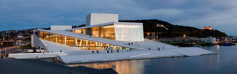 Ópera de Oslo. Foto: Wikimedia/ Rafał Konieczny
