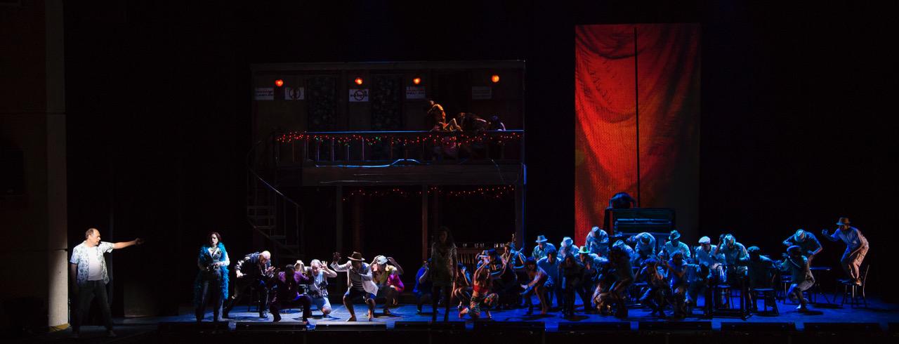 uge y caída de la ciudad de Mahagonny, ascenso y triunfo en el Teatro Mayor Julio Mario Santo Domingo de Bogotá. Foto: Juan Diego Castillo