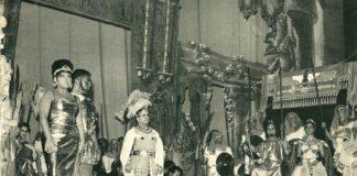 Claudia Parada, Aldo Bertocci, Licinio Montefusco y Julio Catania. (Aida. 1964). Foto cortesía de Joaquina Pérez