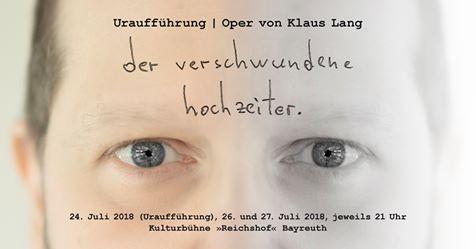Le marié disparu de Klaus Lang, création mondiale d'un nouvel opéra au Festival de Bayreuth