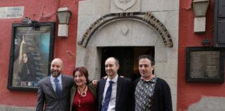 Blanca del Rey, junto a sus hijos Armando y Juan Manuel, y el chef David García ©PACO MANZANO