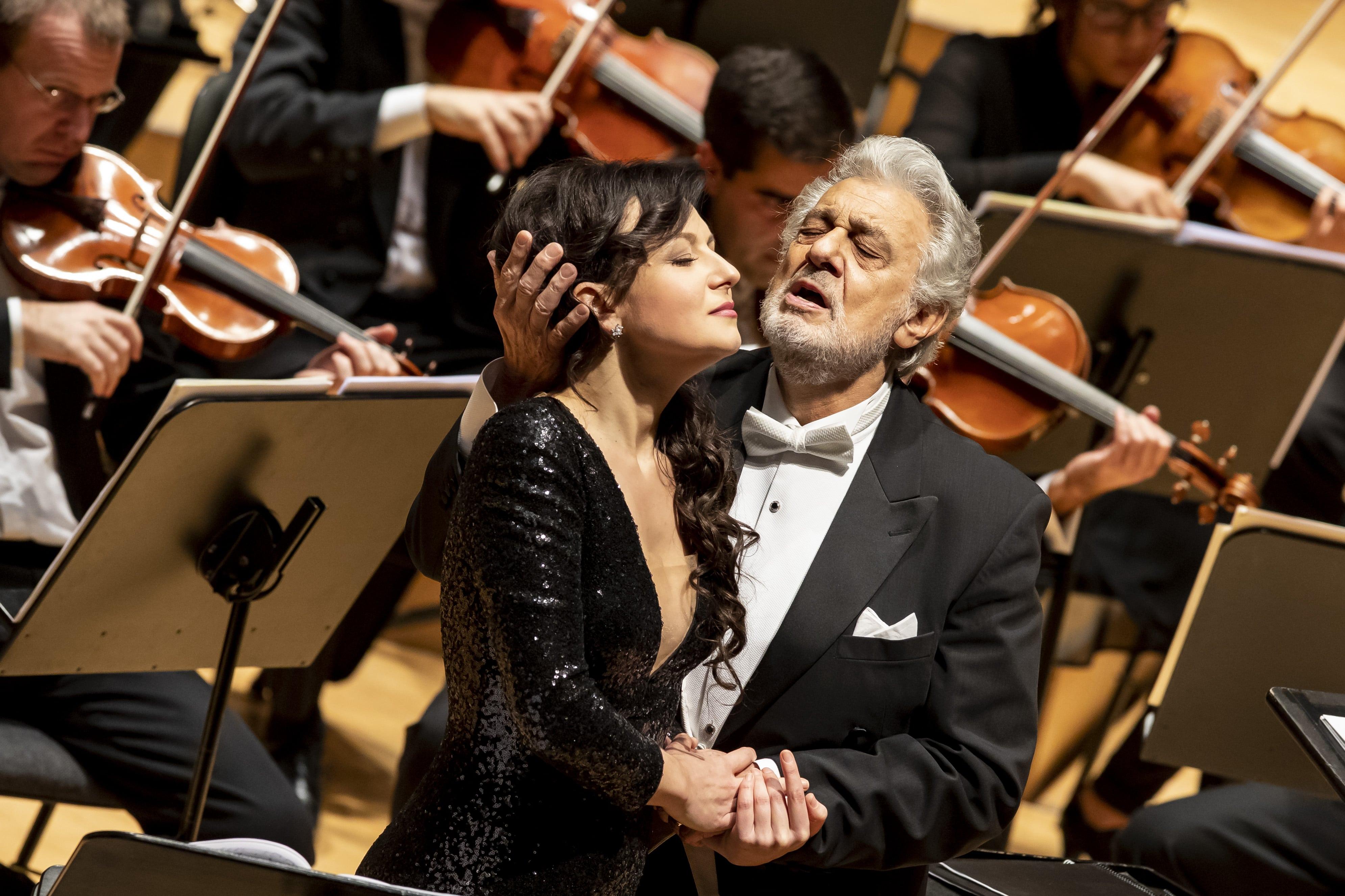 Plácido Domingo e Irina Lungu