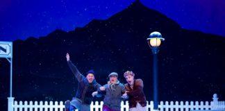 Trois hommes dans la neige