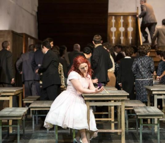 La Sonnambula at the Deutsche Oper. Photo: Bernd Uhlig