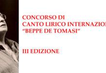 """Concorso Internazionale di Canto Lirico """"Beppe de Tomasi"""""""