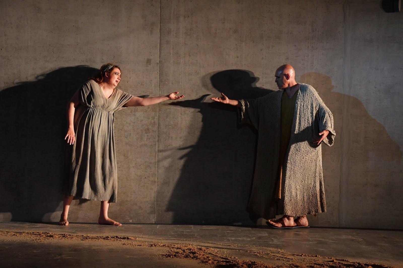 Aïda (Kristin Ebner)et Amonasro (Torsten Petsch)