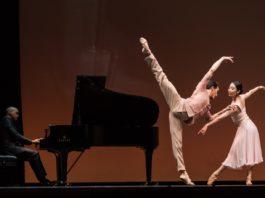 La CND inaugura Veranos de la Villa 2020. En la foto, Angel García Molinero y Haruhi Otani, con Moisés Madrigal al piano. © Alba Muriel