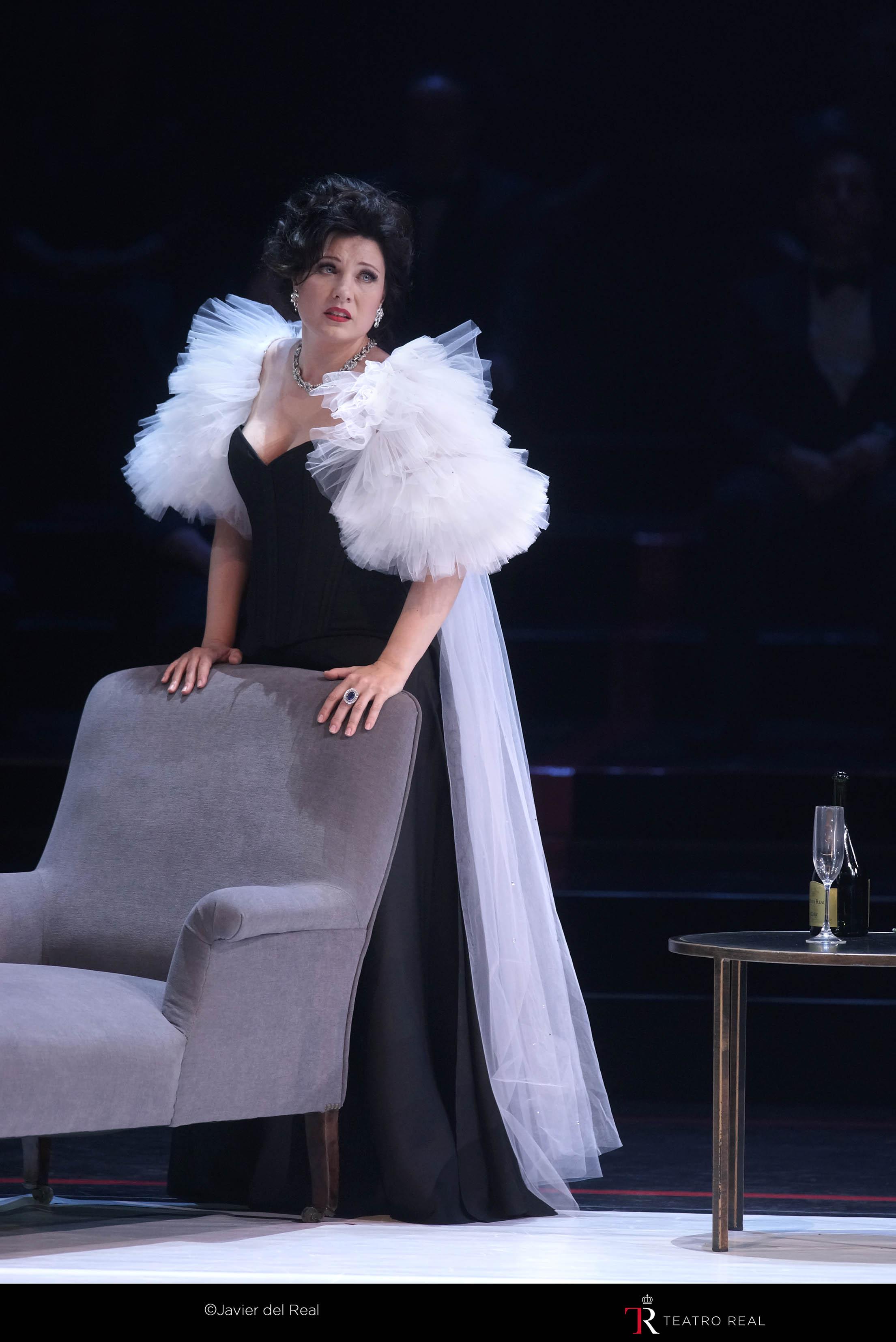La soprano Marina Rebeka, una de las Violettas de esta producción de La Traviata
