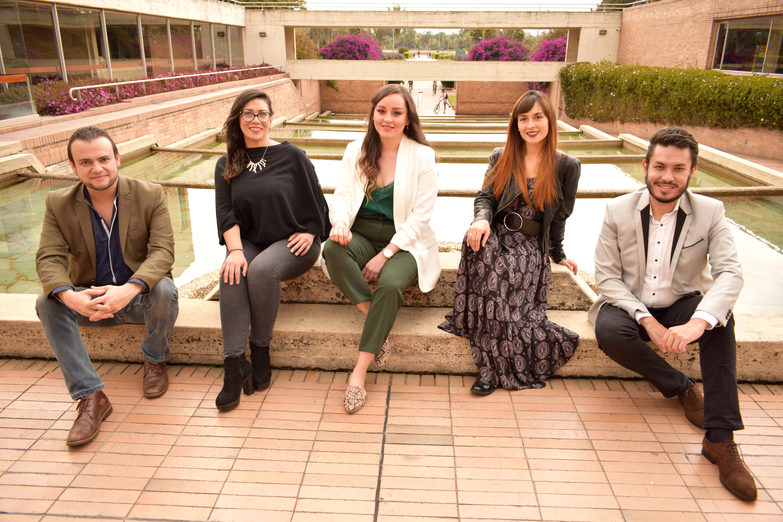 De izquierda a derecha: Juan David González, Viviana Rojas, Laura Gómez, Karolyn Rosero y Christian Correa. Fundadores de Opera Nova Colombia