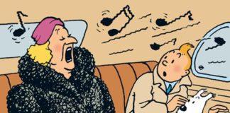 Hergé, El cetro de Ottokar. La diva Castafiore y Tintin. Ed. Juventud
