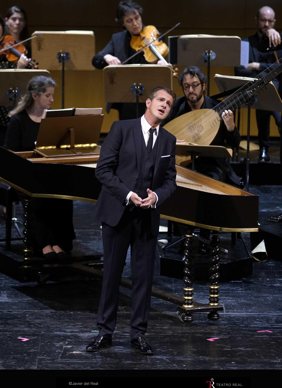 Philippe Jaroussky en un momento del concierto en el Teatro Real.  Foto: Javier del Real