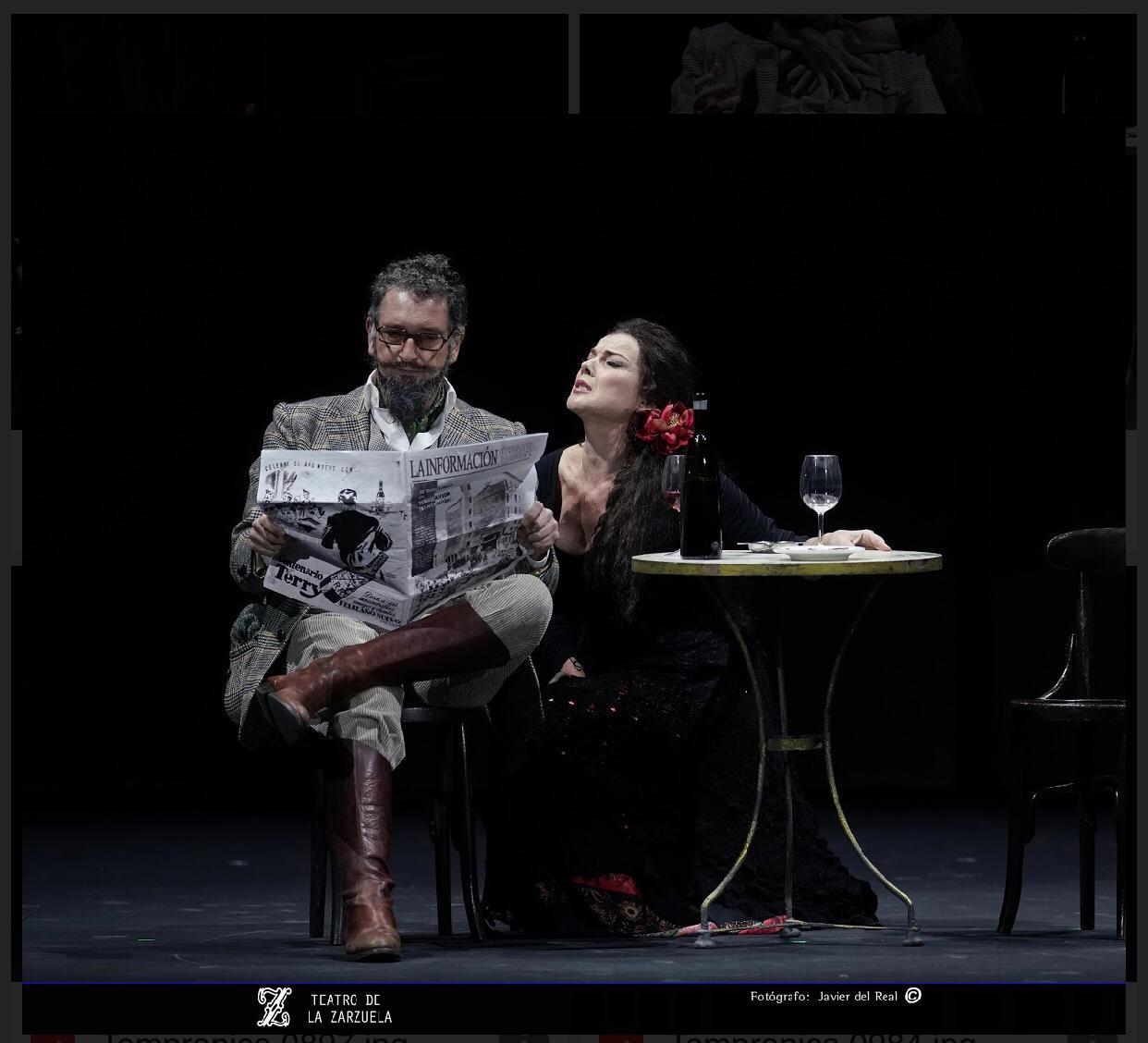 """Javier Franco y Ana Ibarra en un momento de """"La Tempranica"""". Granada: La Tempranica + La vida breve"""