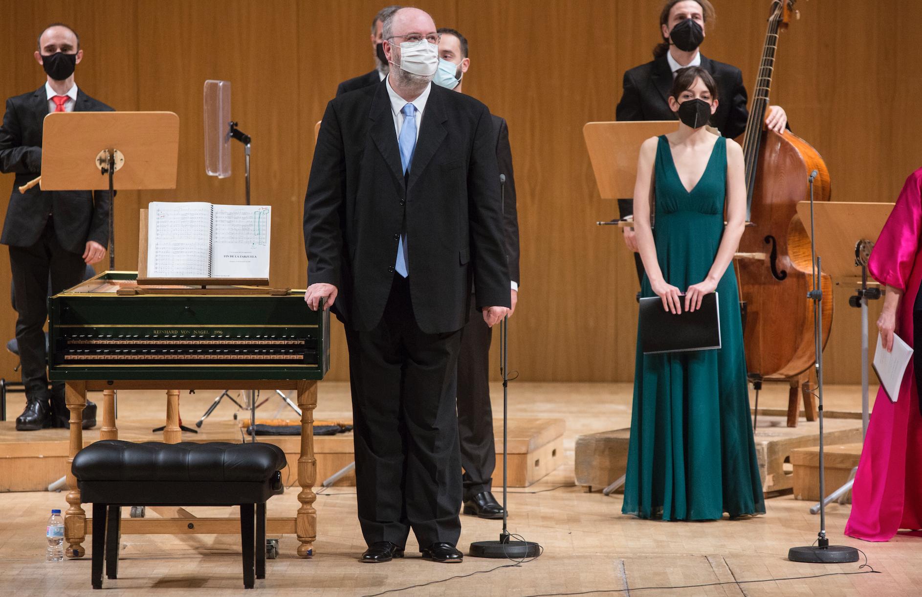 """Eduardo López Banzo al final del concierto de """"Júpiter y Semele"""" © Elvira Megías"""