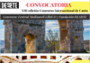 Cartel para la convocatoria del VIII Concurso de Internacional de Canto del Festival de Medinaceli