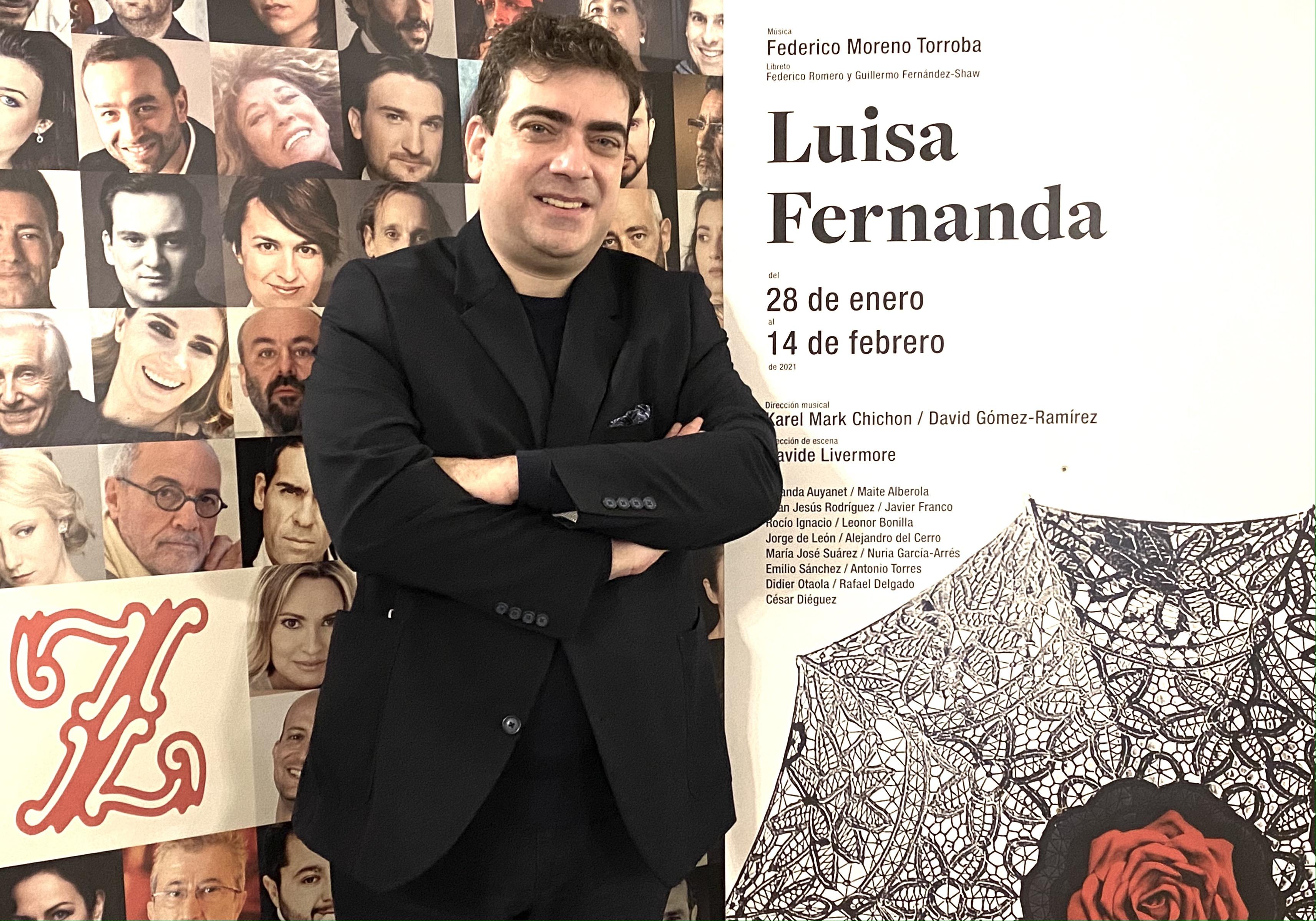 """David Gómez-Ramírez debuta mañana en el Teatro de la Zarzuela dirigiendo """"Luisa Fernanda"""" © Doble F"""