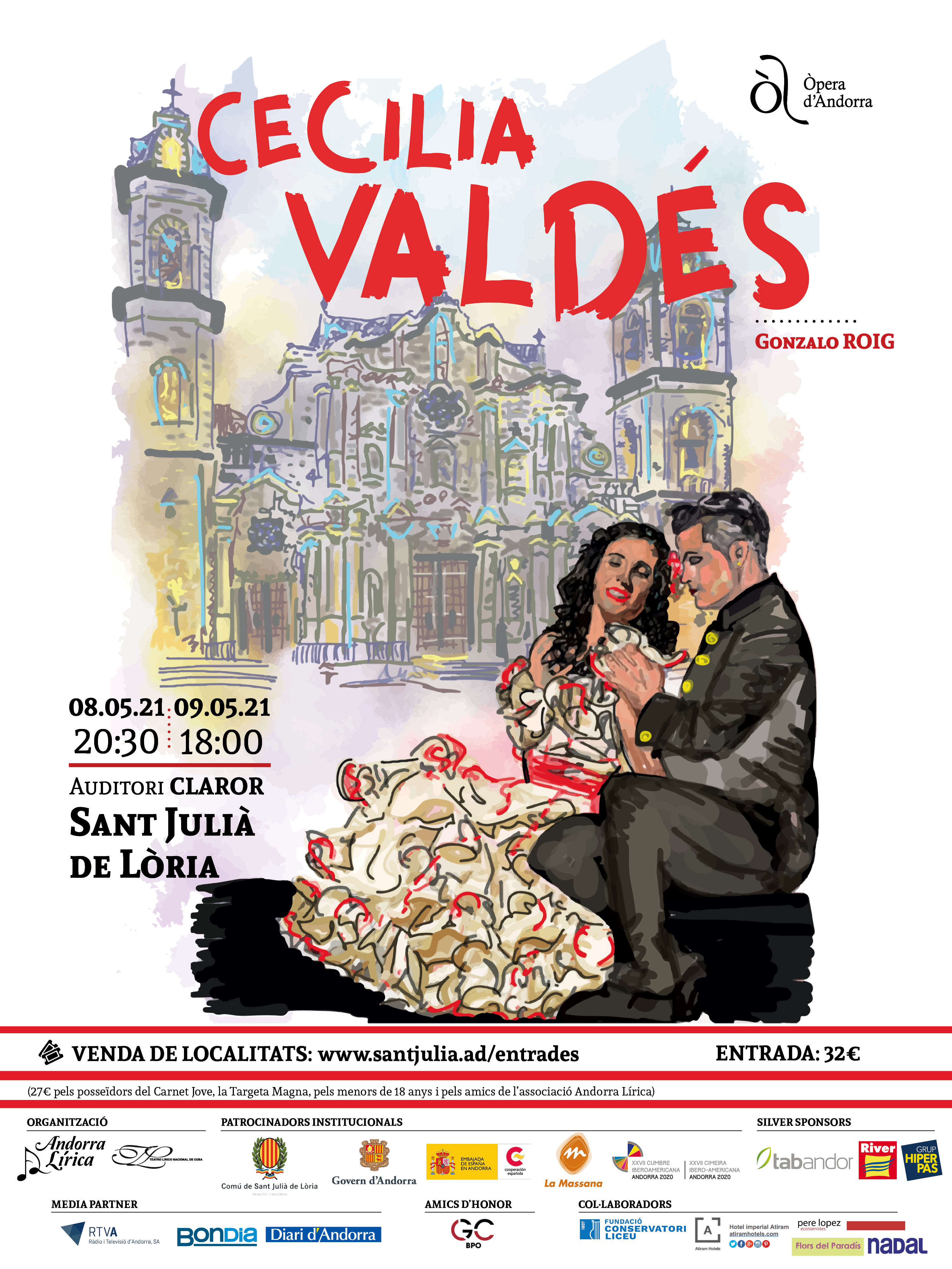 Cartel de Cecilia Valdés en Andorra